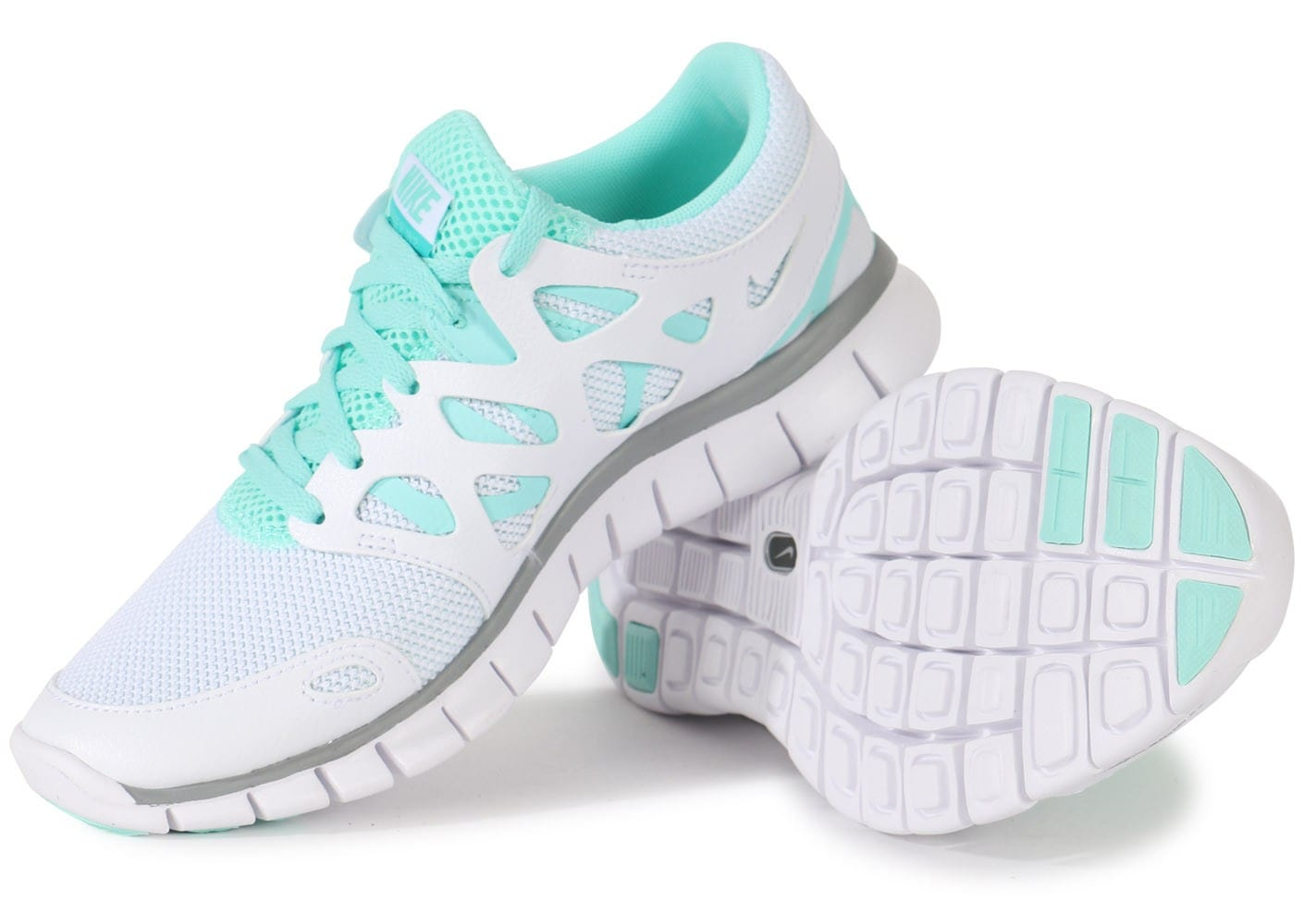 Chaussures Nike FREE RUN 2 EXT BLANCHE vue intérieure