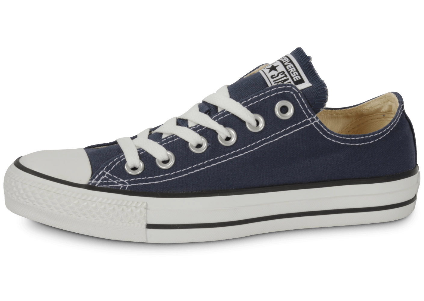converse chuck taylor all star low bleu marine chaussures femme chausport. Black Bedroom Furniture Sets. Home Design Ideas