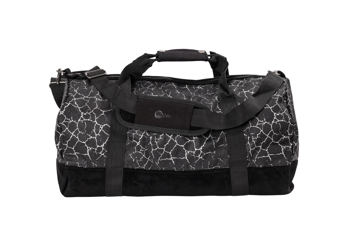mi pac sac voyage duffel cracked noir black friday chausport. Black Bedroom Furniture Sets. Home Design Ideas