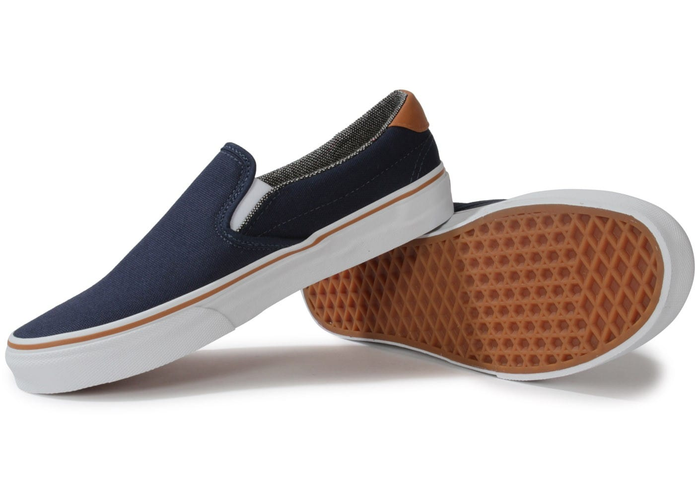 vans slip on 59 bleu marine chaussures homme chausport. Black Bedroom Furniture Sets. Home Design Ideas