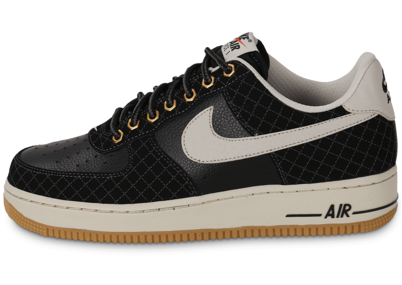 nike air force 1 low noire chaussures homme chausport. Black Bedroom Furniture Sets. Home Design Ideas