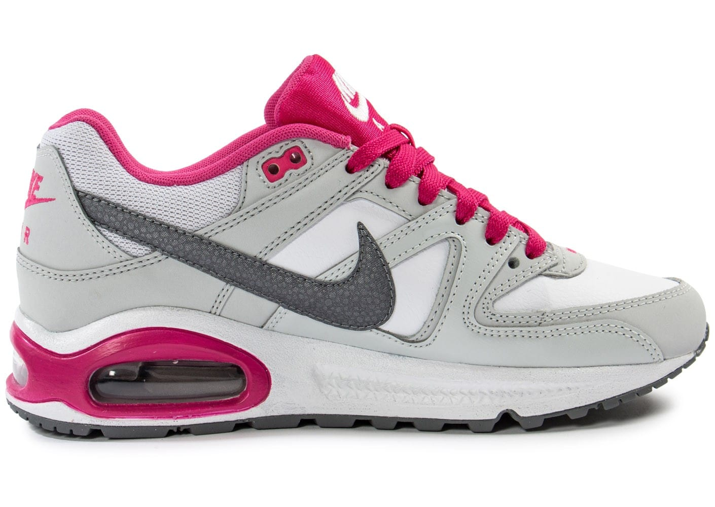 nike air max command junior grise et rose chaussures chaussures chausport. Black Bedroom Furniture Sets. Home Design Ideas
