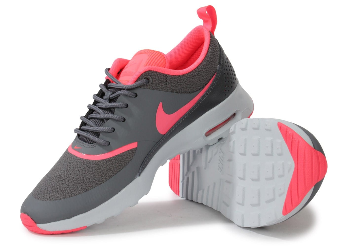 nike air max thea grise rose chaussures chaussures. Black Bedroom Furniture Sets. Home Design Ideas