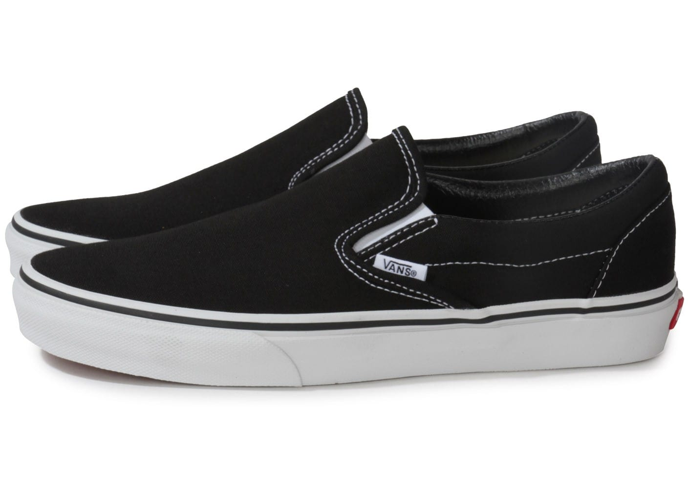 vans classic slip on noire chaussures homme chausport. Black Bedroom Furniture Sets. Home Design Ideas