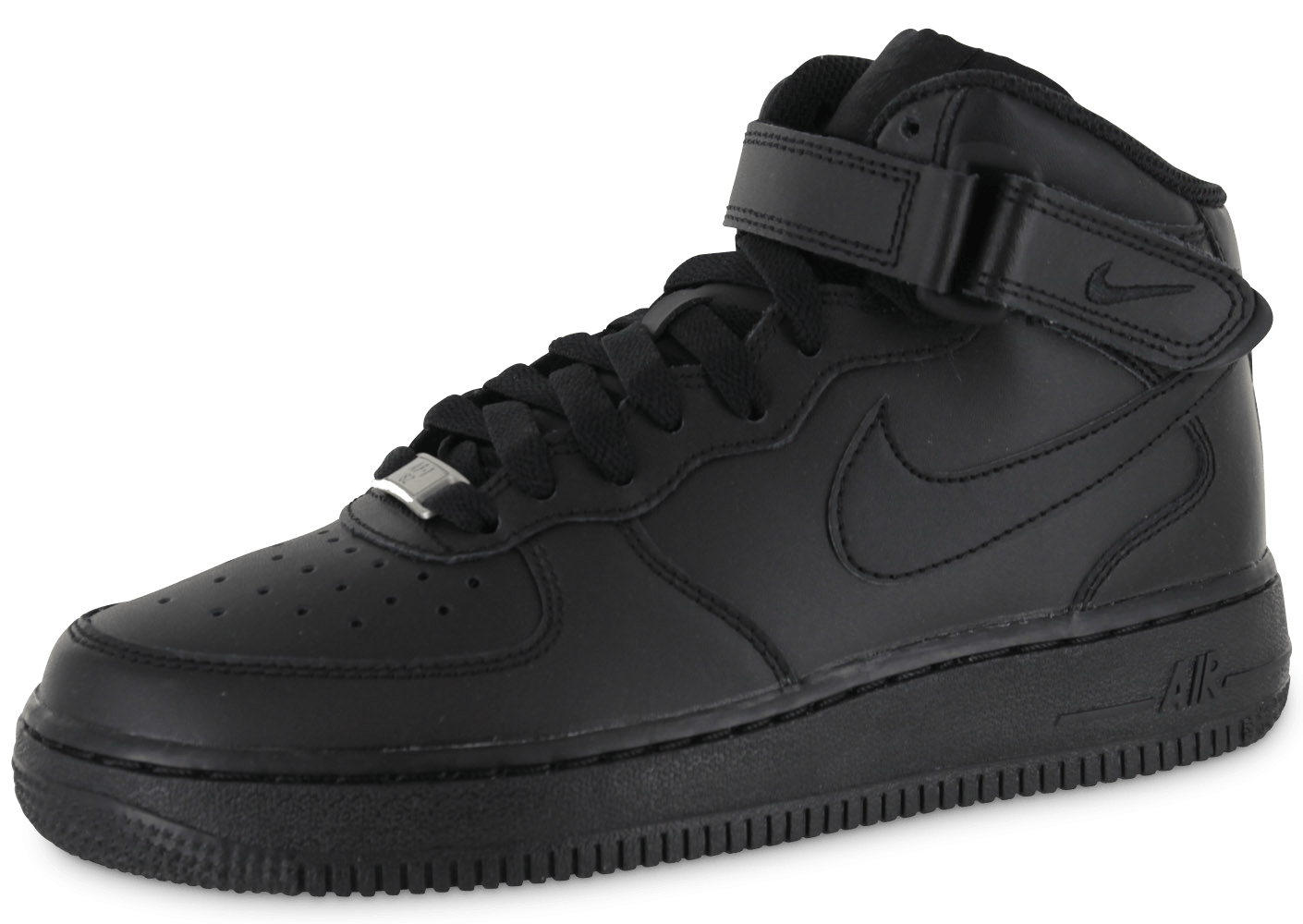 nike air force 1 mid j triple black chaussures black. Black Bedroom Furniture Sets. Home Design Ideas