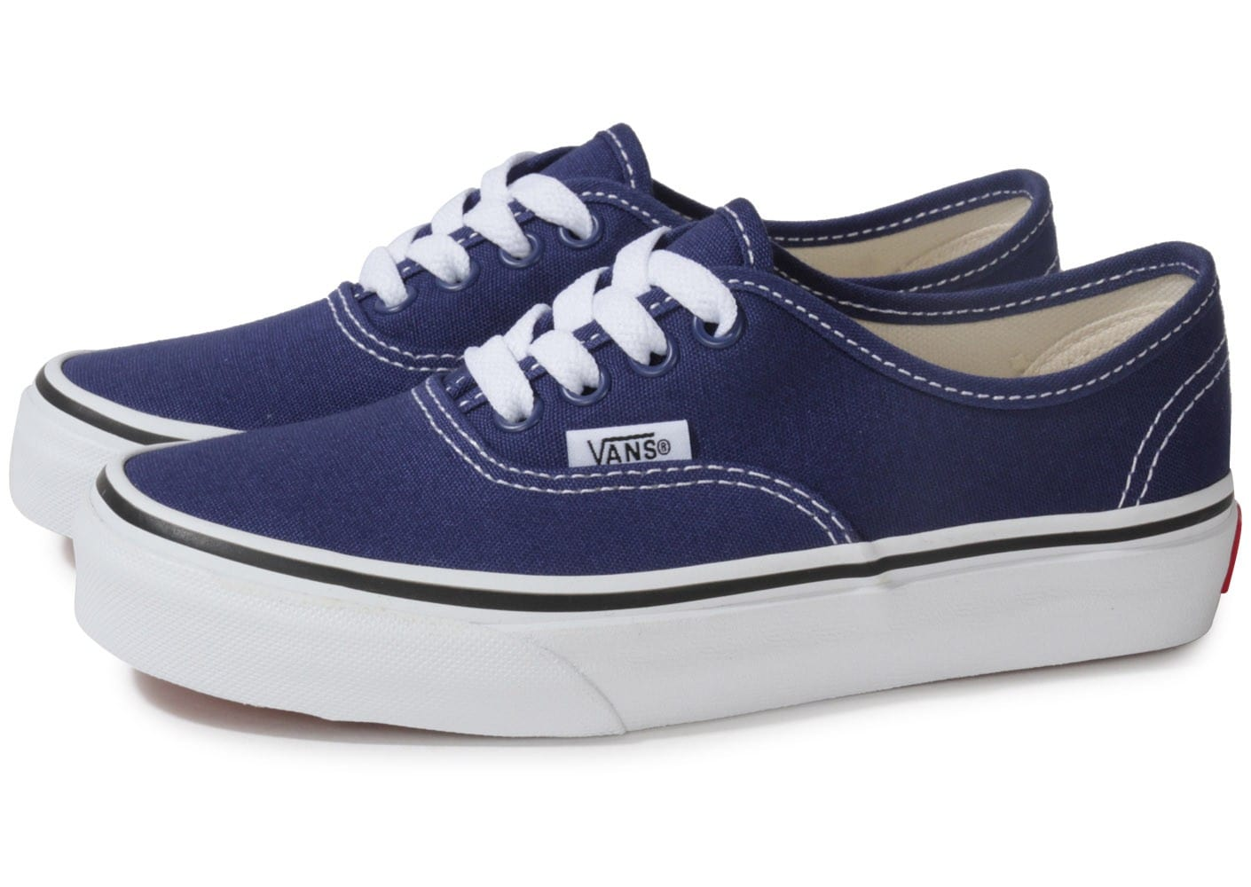 vans authentic enfant bleue chaussures chaussures chausport. Black Bedroom Furniture Sets. Home Design Ideas