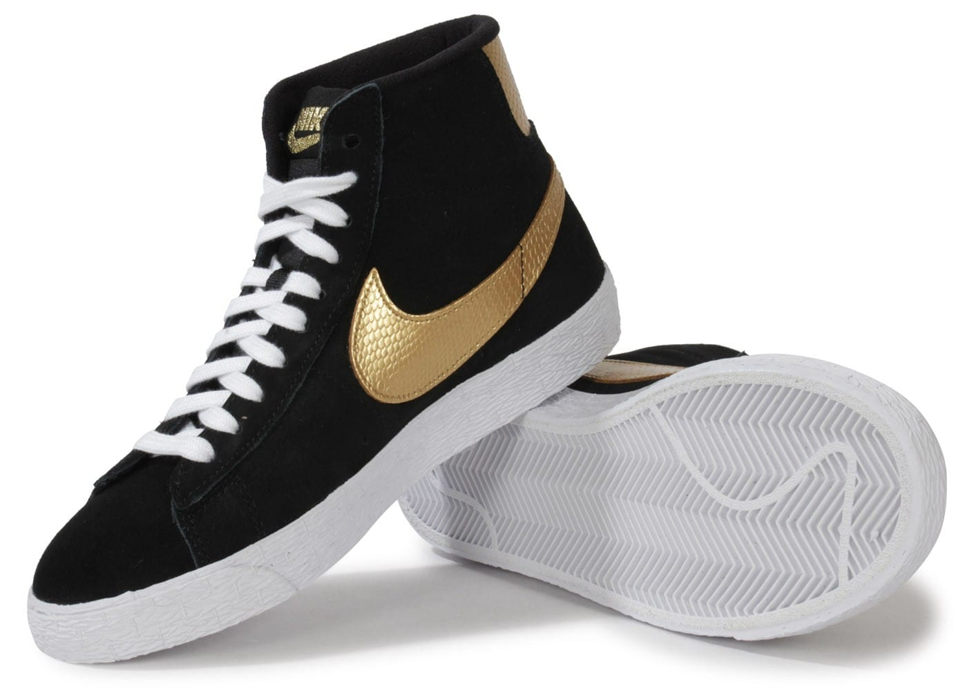 nike blazer mid noir or chaussures chaussures chausport. Black Bedroom Furniture Sets. Home Design Ideas