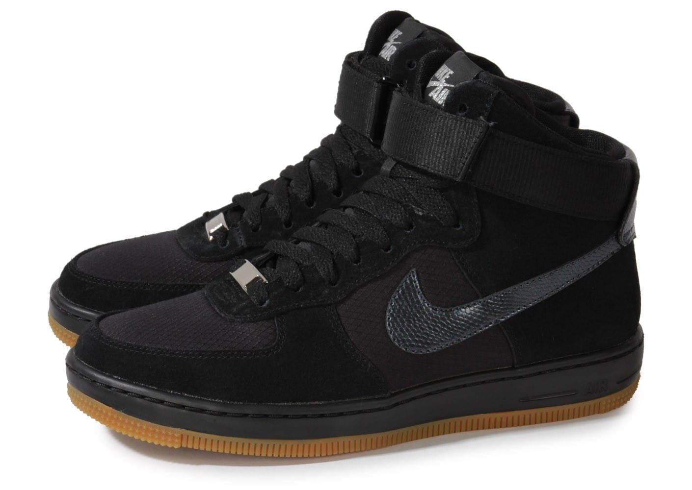 nike air force 1 ultra force mid noir gum chaussures. Black Bedroom Furniture Sets. Home Design Ideas