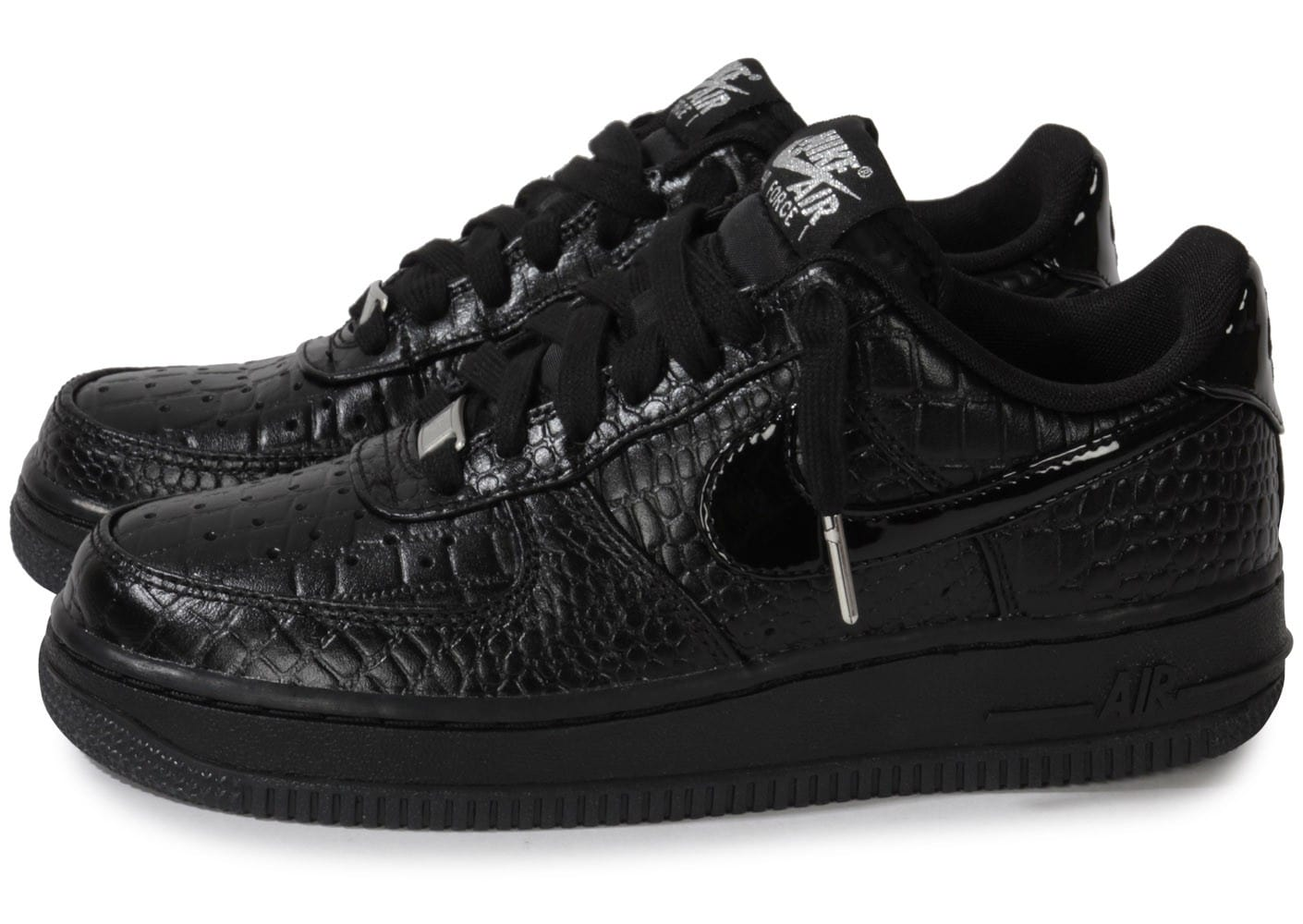 nike air force 1 low croco noir chaussures chaussures. Black Bedroom Furniture Sets. Home Design Ideas