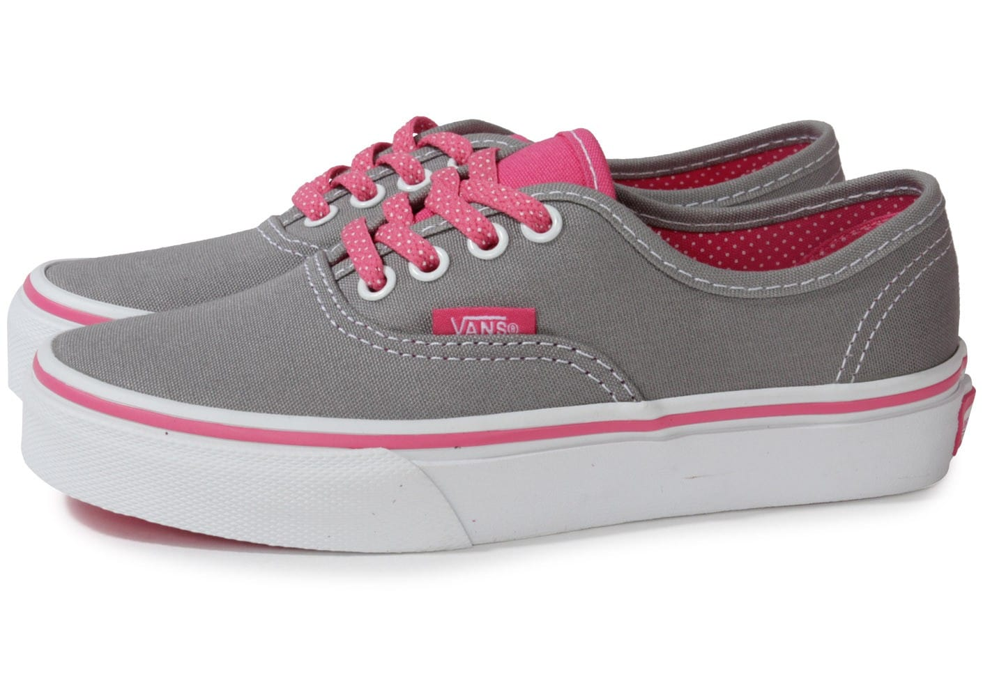 vans authentic grise rose enfant chaussures chaussures chausport. Black Bedroom Furniture Sets. Home Design Ideas