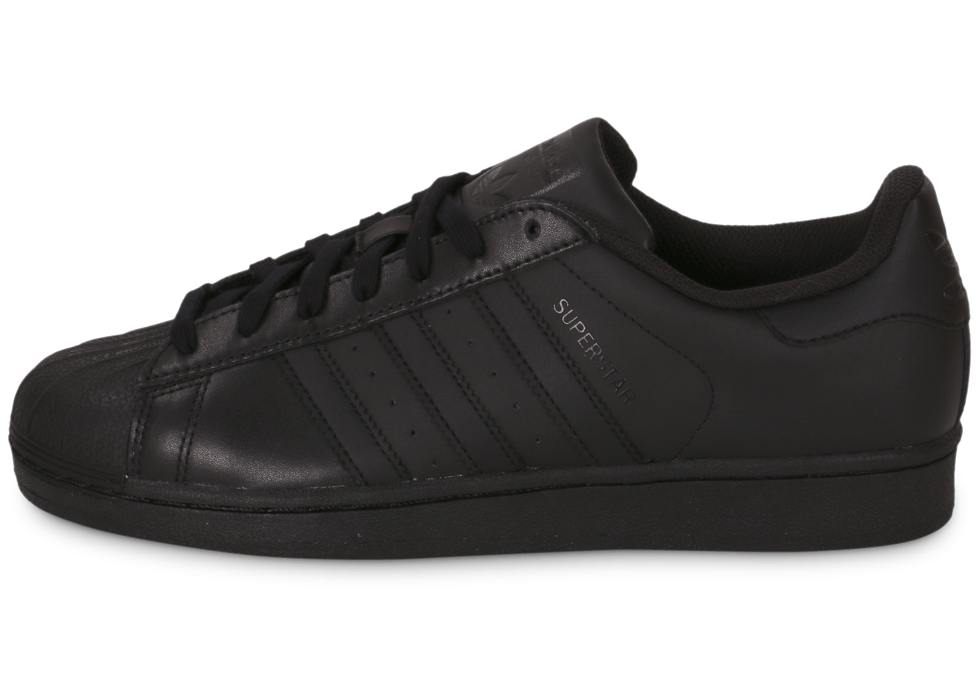 adidas superstar foundation triple black chaussures homme chausport. Black Bedroom Furniture Sets. Home Design Ideas