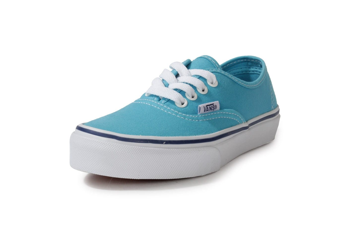 soldes vans authentic enfant bleu ciel chaussures toutes les baskets sold es chausport. Black Bedroom Furniture Sets. Home Design Ideas