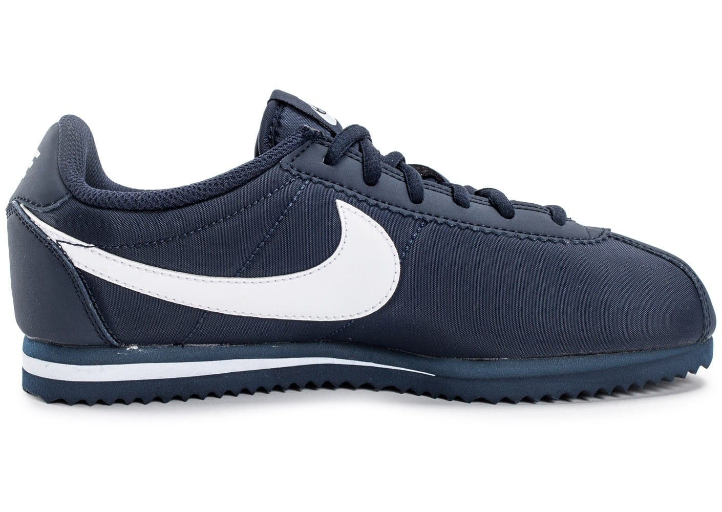 nike cortez nylon junior bleu marine chaussures enfant chausport. Black Bedroom Furniture Sets. Home Design Ideas
