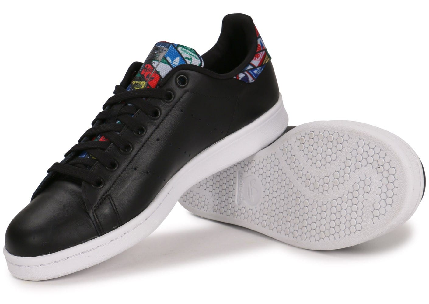 Chaussures adidas Stan Smith Logos noire vue intérieure