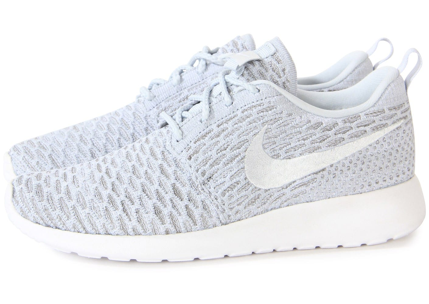 nike roshe run flyknit grise chaussures chaussures chausport. Black Bedroom Furniture Sets. Home Design Ideas