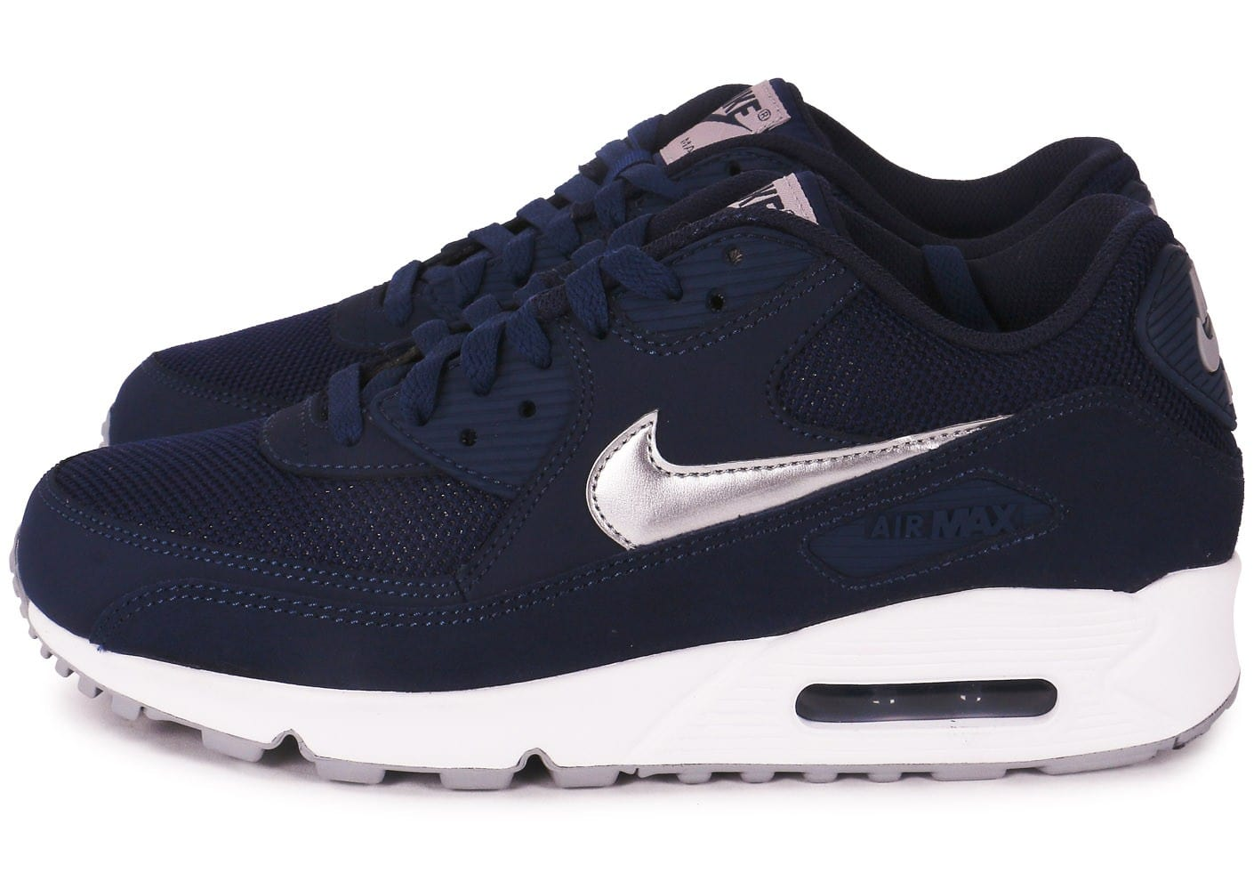 nike air max 90 marine et blanc chaussures homme chausport. Black Bedroom Furniture Sets. Home Design Ideas