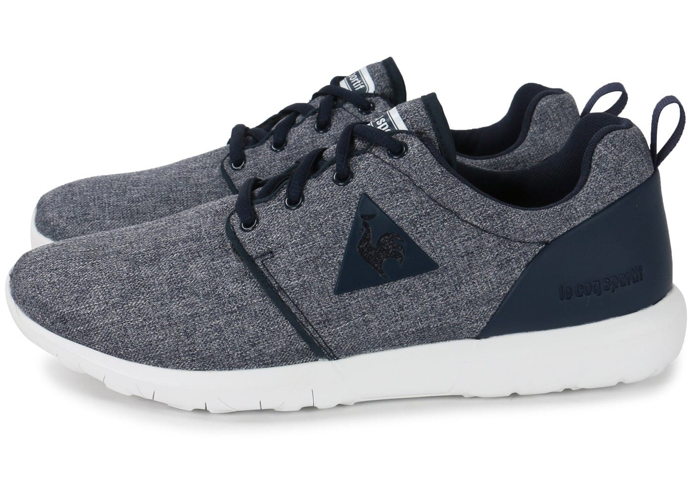 le coq sportif dynacomf bleue chaussures homme chausport. Black Bedroom Furniture Sets. Home Design Ideas