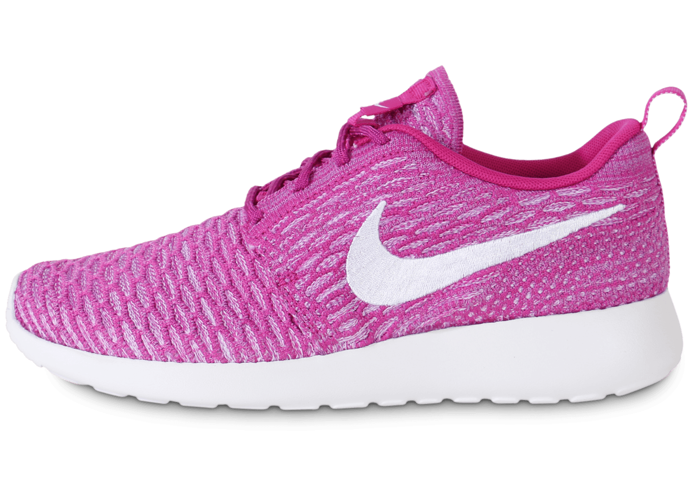 nike roshe run flyknit fushia chaussures toutes les baskets sold es chausport. Black Bedroom Furniture Sets. Home Design Ideas