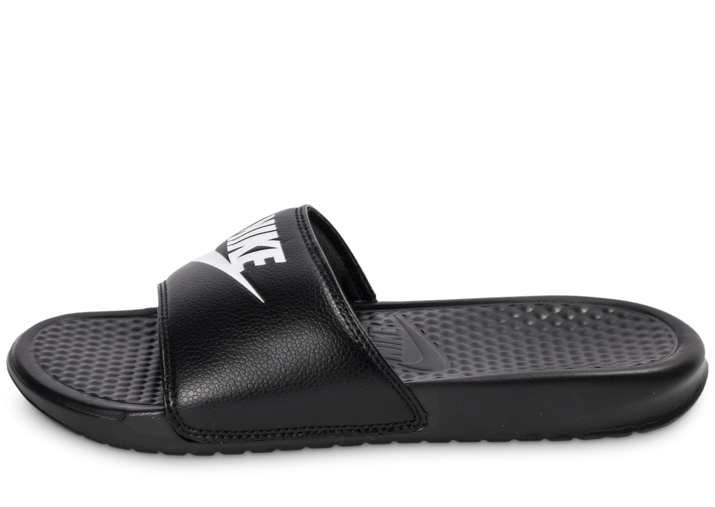 nike benassi just do it noire chaussures homme chausport. Black Bedroom Furniture Sets. Home Design Ideas