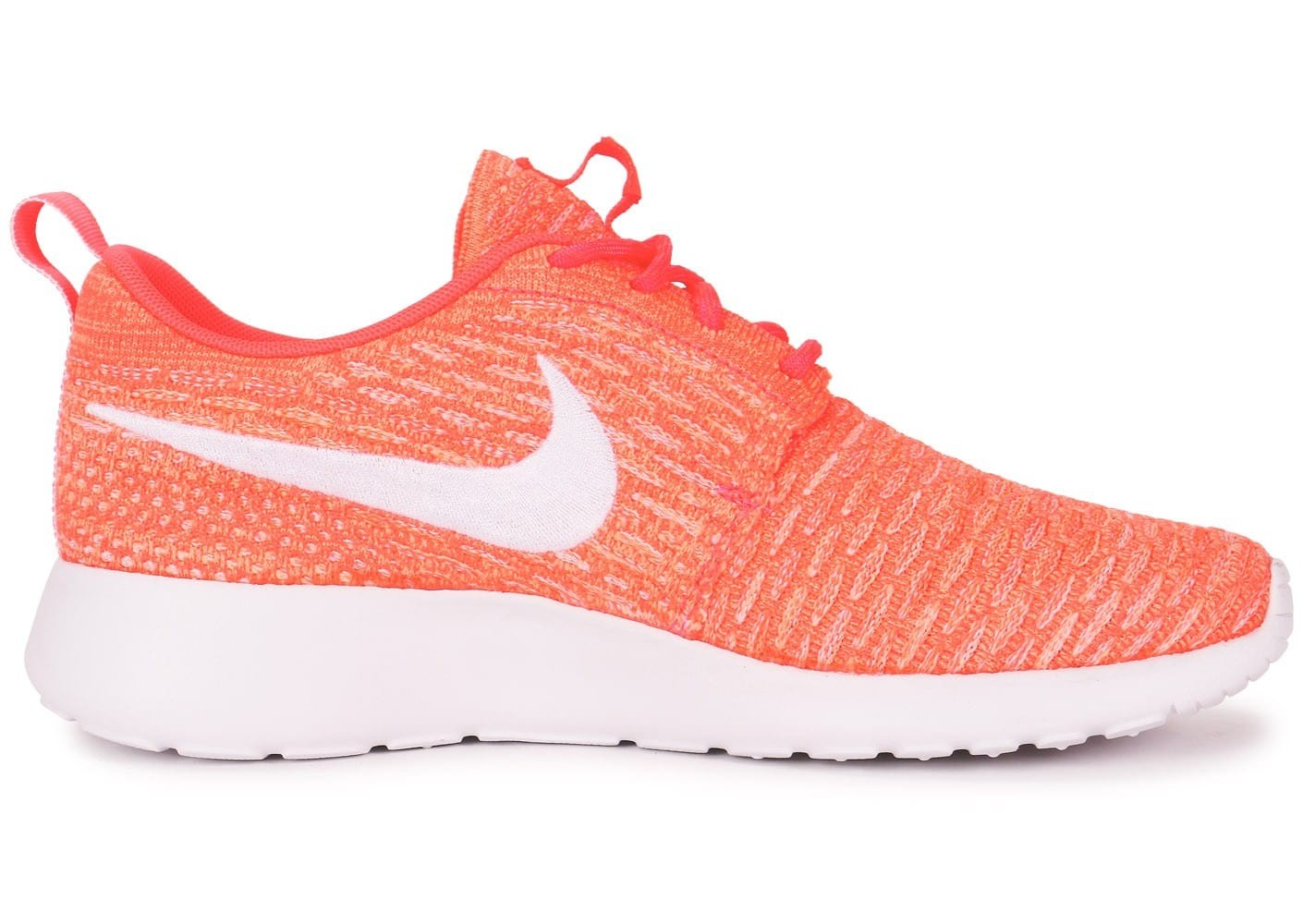 the best attitude 37f13 1284a chaussures nike roshe run flyknit orange vue interieure