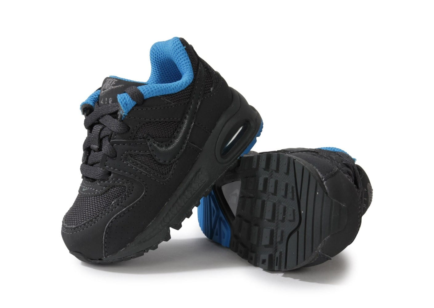 nike air max command b b anthracite bleu chaussures chaussures chausport. Black Bedroom Furniture Sets. Home Design Ideas