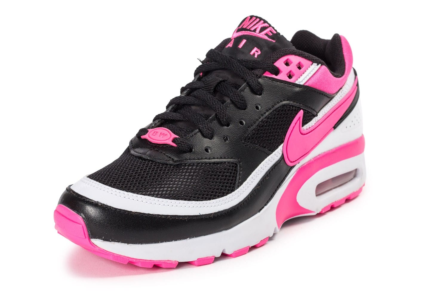 nike air max bw junior noire et rose chaussures chaussures chausport. Black Bedroom Furniture Sets. Home Design Ideas
