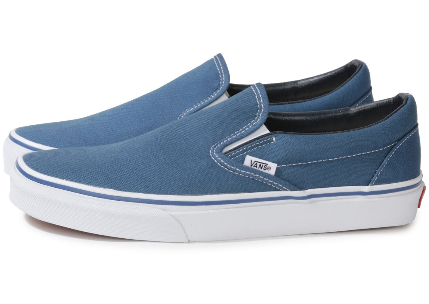 vans classic slip on bleu chaussures homme chausport. Black Bedroom Furniture Sets. Home Design Ideas