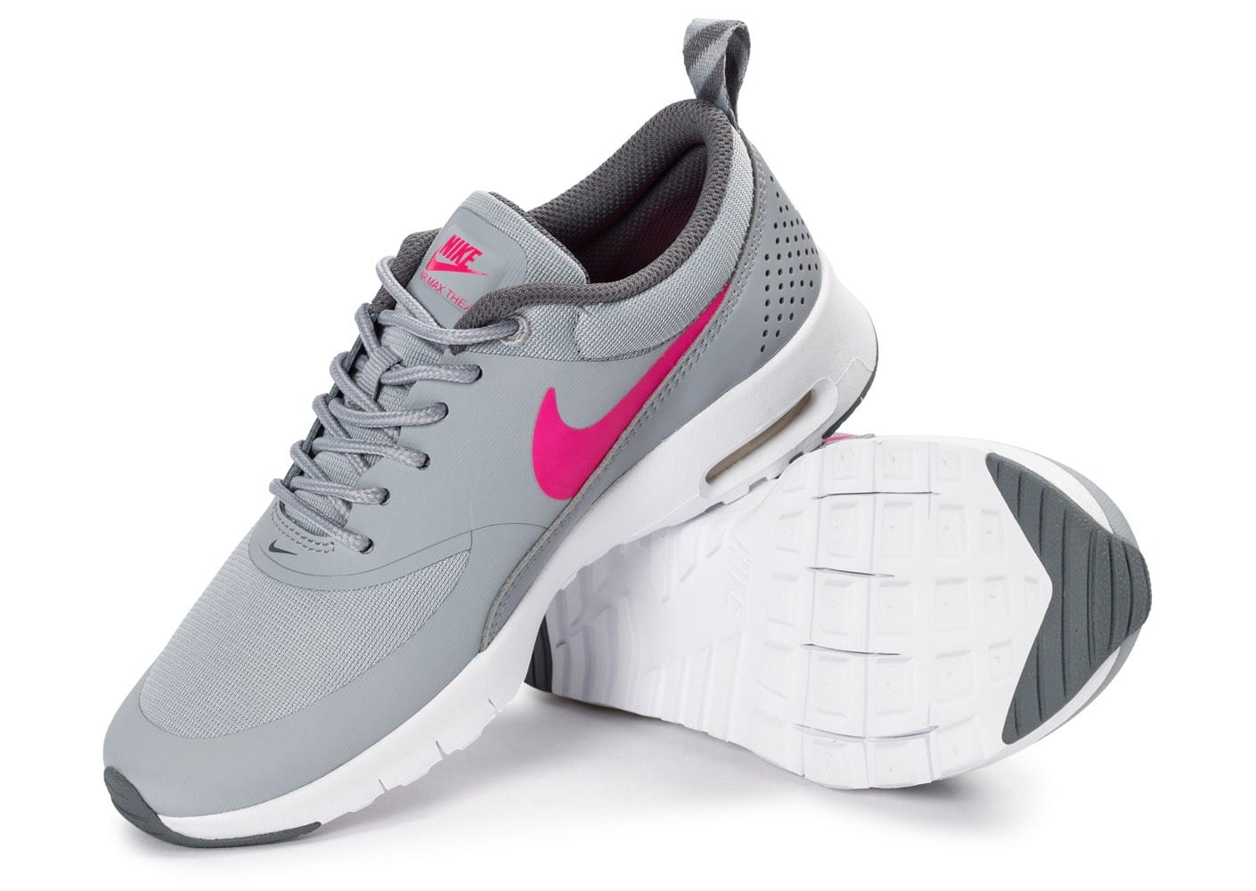 nike air max thea junior grise et rose chaussures toutes les baskets sold es chausport. Black Bedroom Furniture Sets. Home Design Ideas