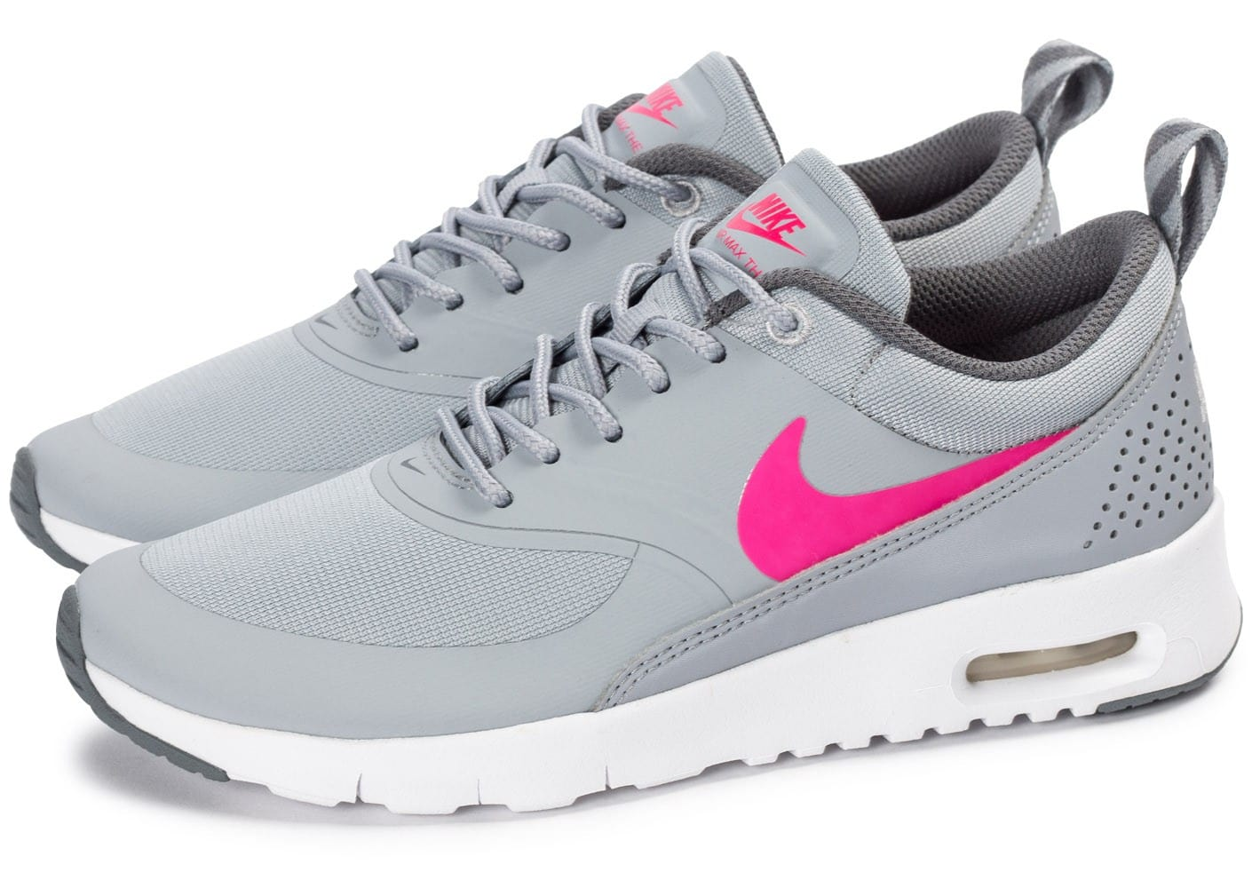 nike air max thea junior grise et rose chaussures chaussures chausport. Black Bedroom Furniture Sets. Home Design Ideas