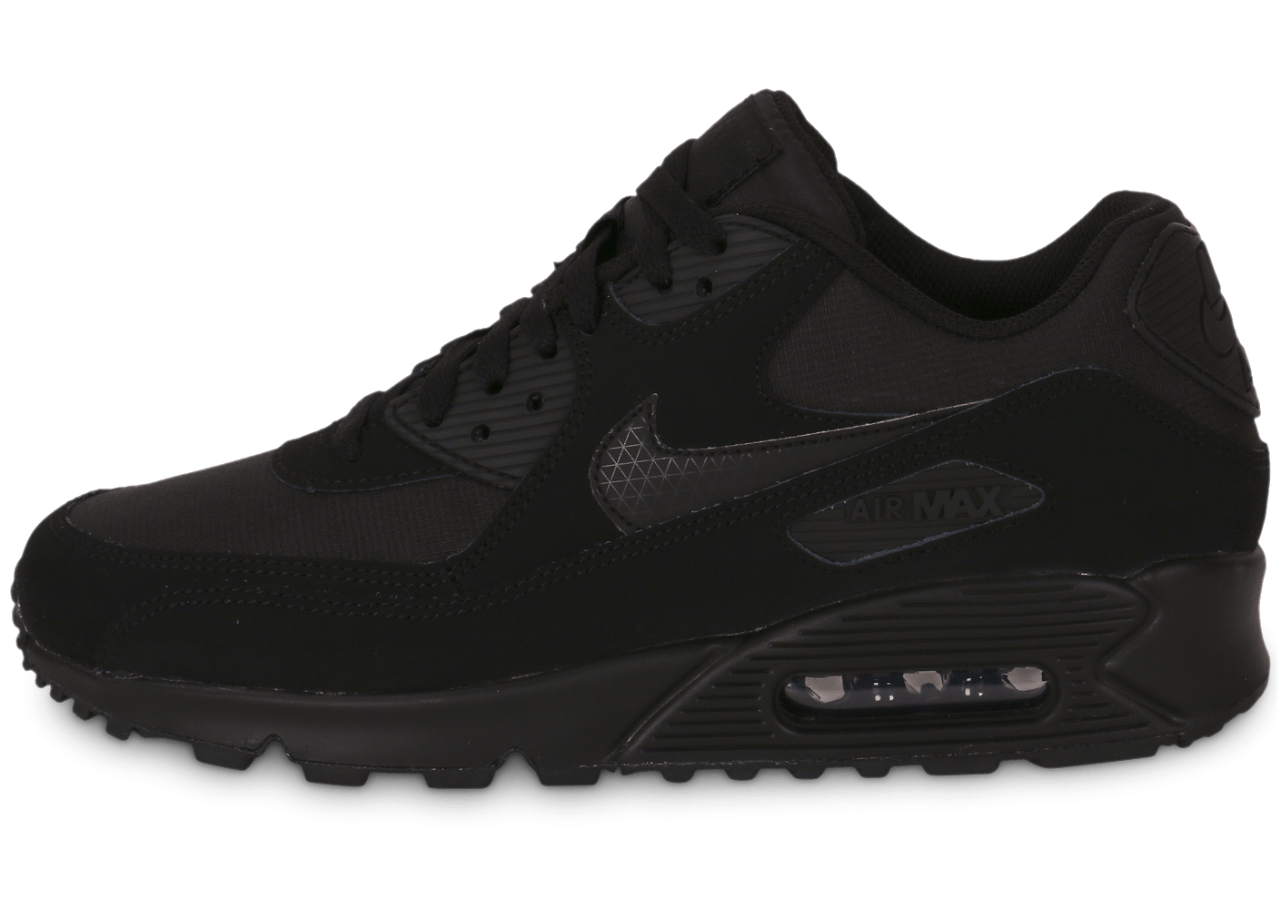 new product b53db d3304 chaussures nike air max 90 essential triple black vue exterieure