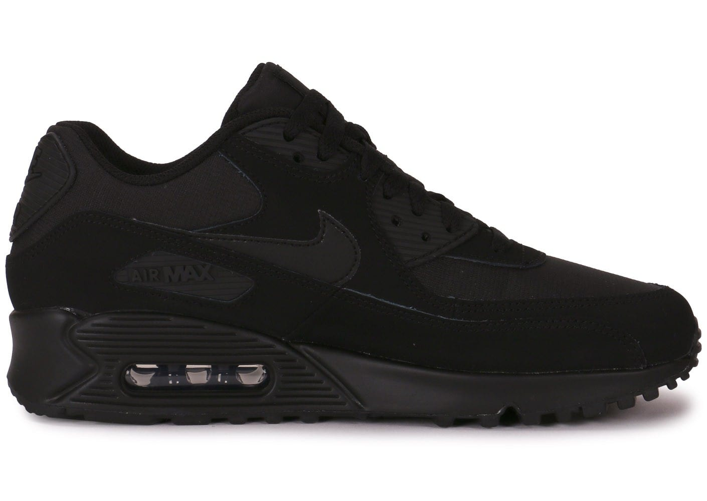 new products 1eee8 309fb chaussures nike air max 90 essential triple black vue interieure