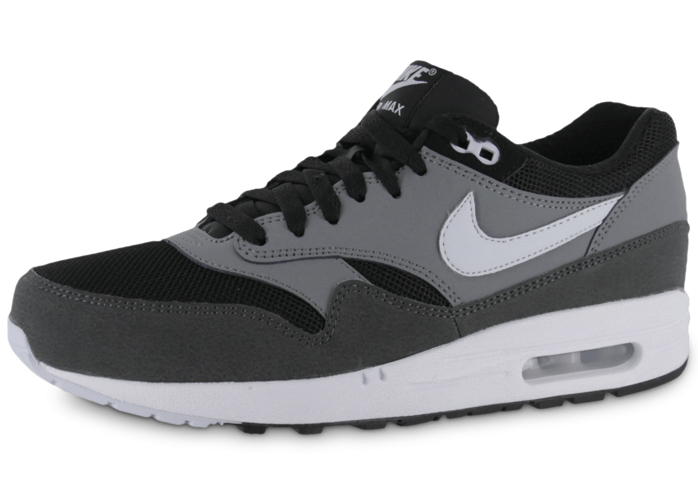 nike air max 1 essential grise chaussures homme chausport. Black Bedroom Furniture Sets. Home Design Ideas