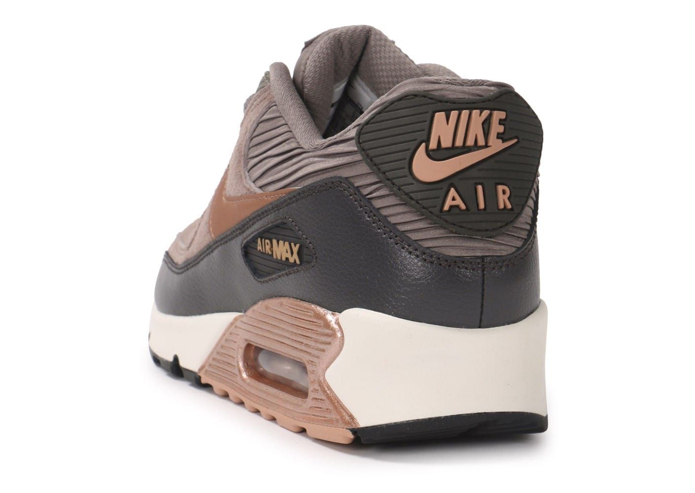 quality design 97cf6 e859a ... chaussures nike air max 90 ltr iron metallic bronze vue arriere