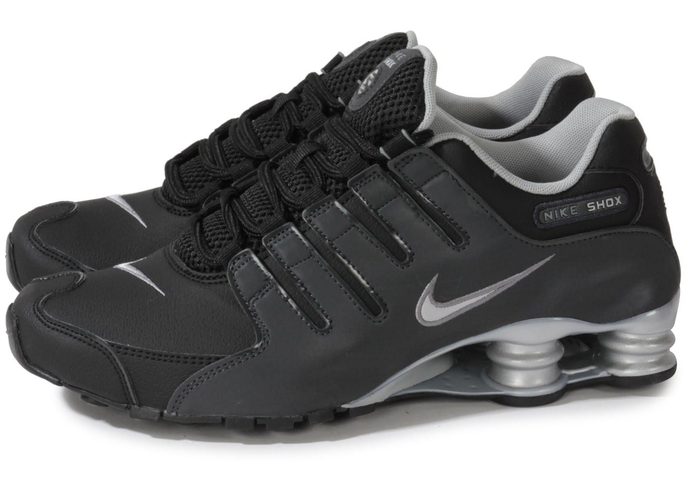 nike shox nz noire silver chaussures homme chausport. Black Bedroom Furniture Sets. Home Design Ideas