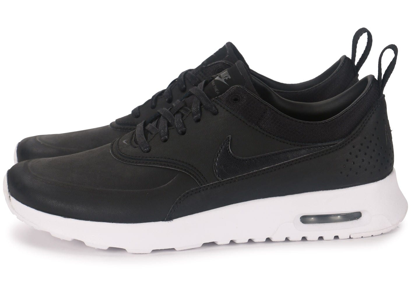 nike air max thea cuir noire chaussures chaussures. Black Bedroom Furniture Sets. Home Design Ideas