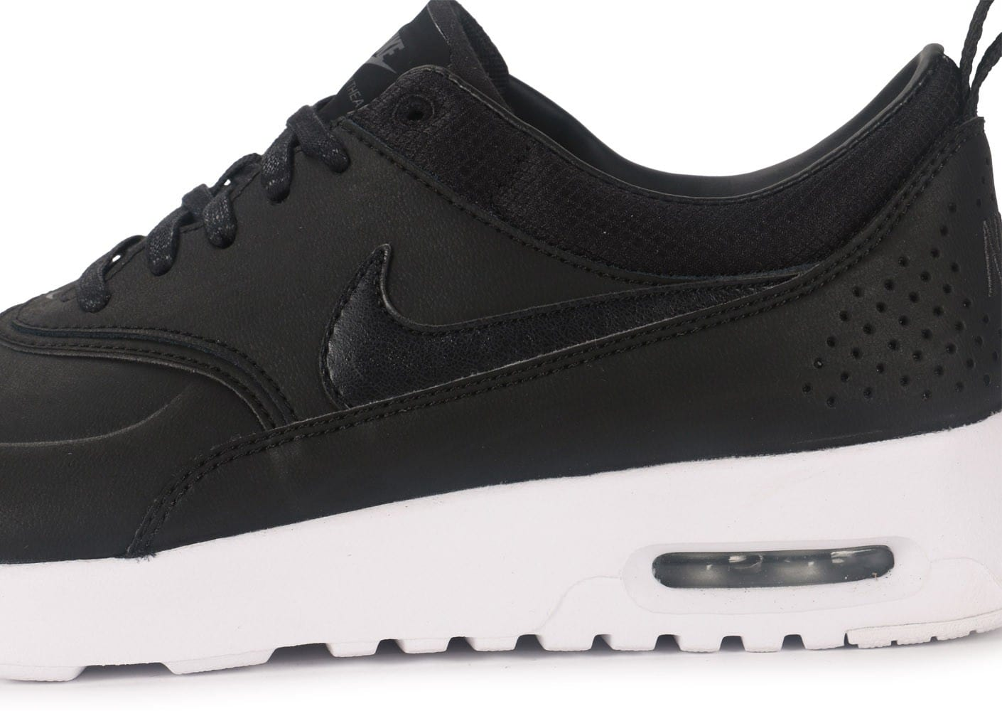 nike air max thea cuir noire chaussures chaussures chausport. Black Bedroom Furniture Sets. Home Design Ideas