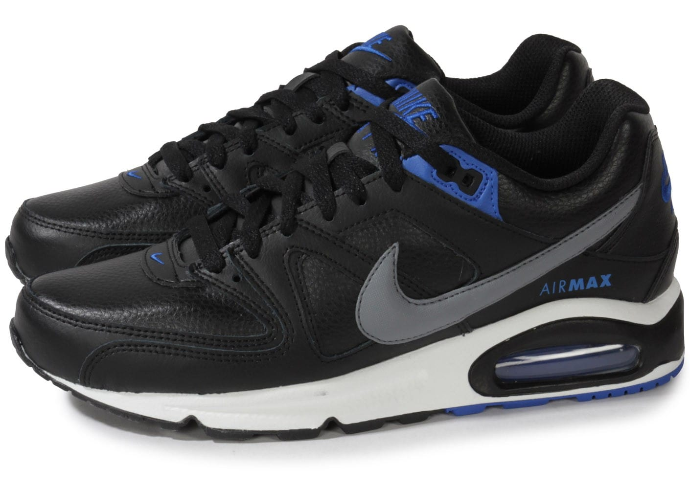 nike air max command cuir noire chaussures homme chausport. Black Bedroom Furniture Sets. Home Design Ideas