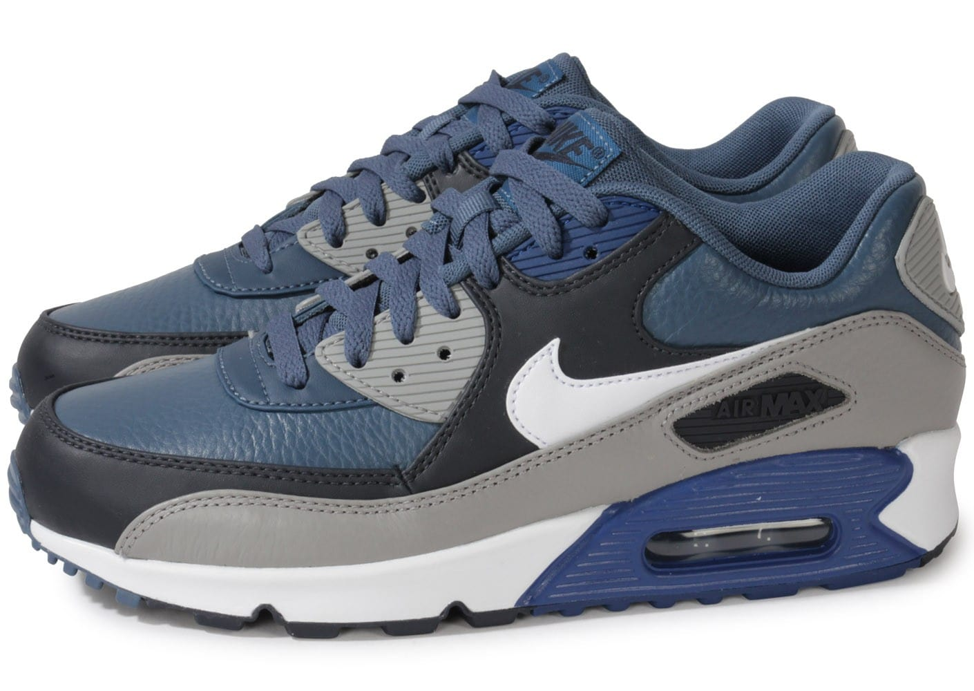 nike air max 90 ltr new slate bleue chaussures homme chausport. Black Bedroom Furniture Sets. Home Design Ideas