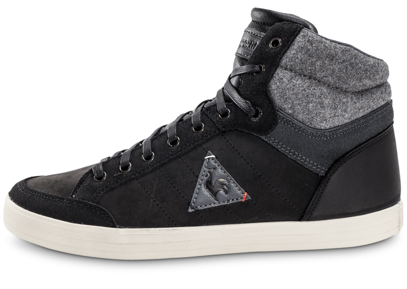 le coq sportif portalet mid craft leather noire chaussures homme chausport. Black Bedroom Furniture Sets. Home Design Ideas