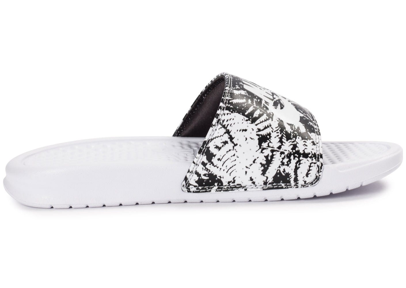 brand new 66cfb 50d7f ... chaussures nike benassi just do it print blanche vue interieure