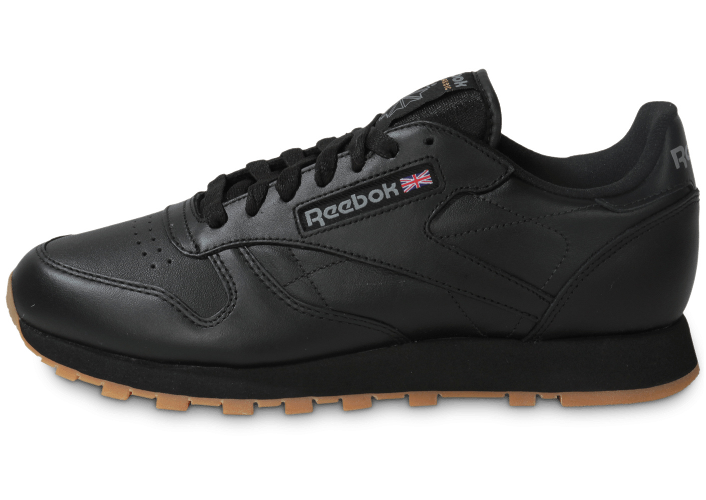 reebok classic leather noir gum chaussures homme chausport. Black Bedroom Furniture Sets. Home Design Ideas