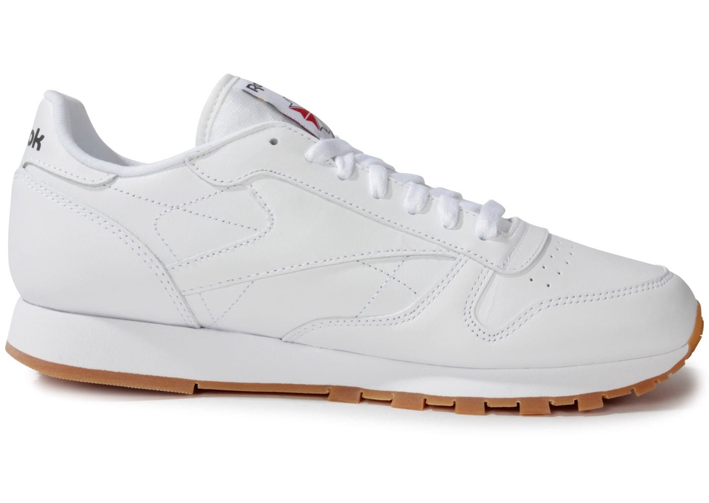 reebok classic leather blanche gum chaussures homme chausport. Black Bedroom Furniture Sets. Home Design Ideas