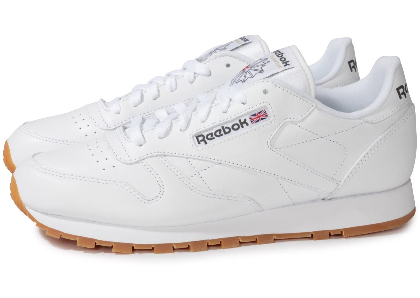 reebok classic leather blanche gum chaussures homme. Black Bedroom Furniture Sets. Home Design Ideas