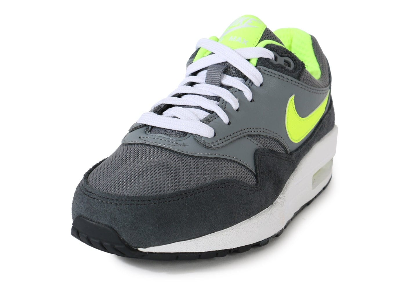 sneakers for cheap 2866d adffa chaussures nike air max 1 junior grise volt vue avant