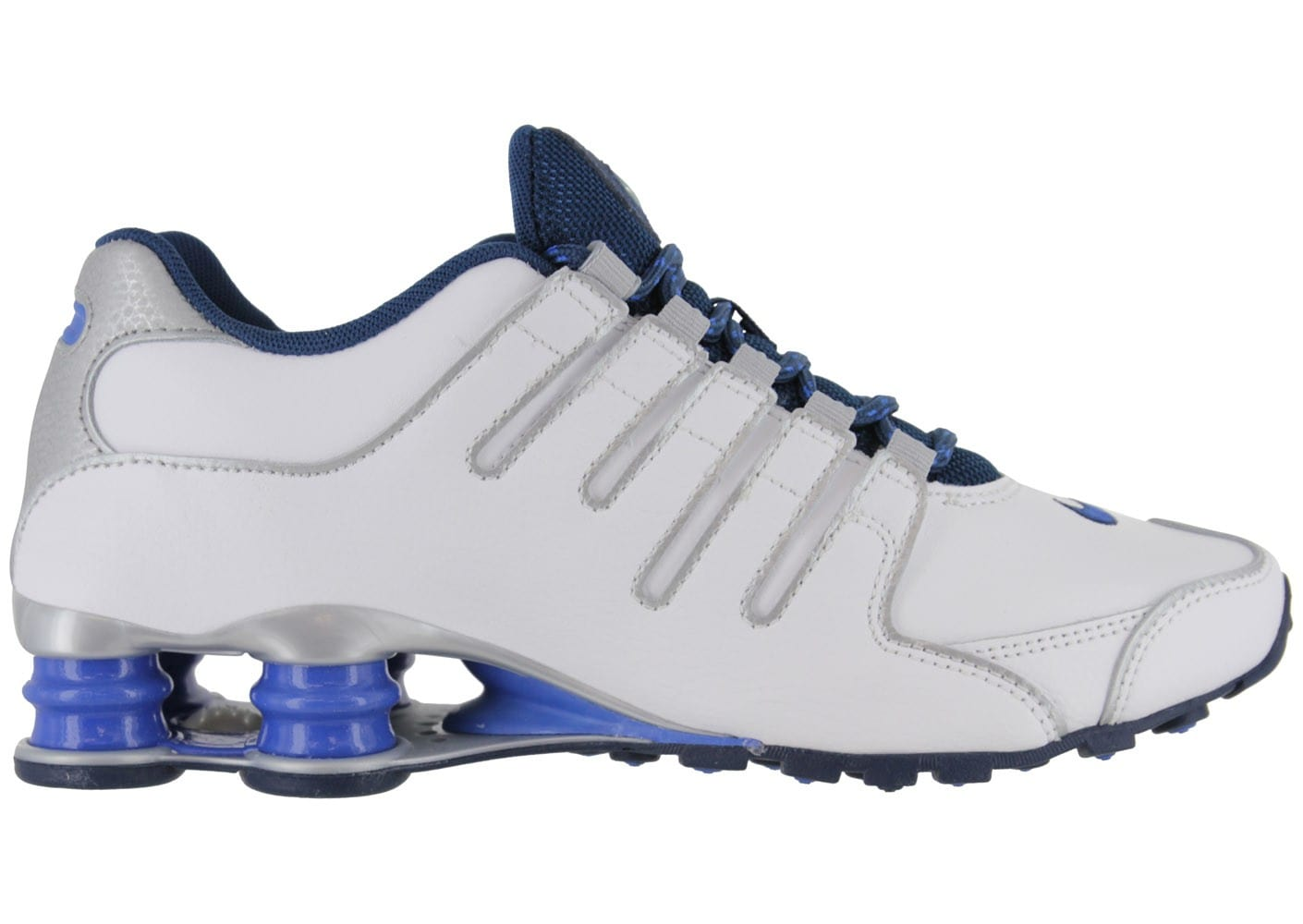 buy online 95f0c 49dad ... chaussures nike shox nz blanche vue interieure