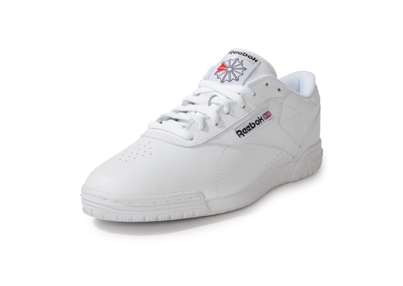 reebok ex o fit lo blanche chaussures homme chausport. Black Bedroom Furniture Sets. Home Design Ideas
