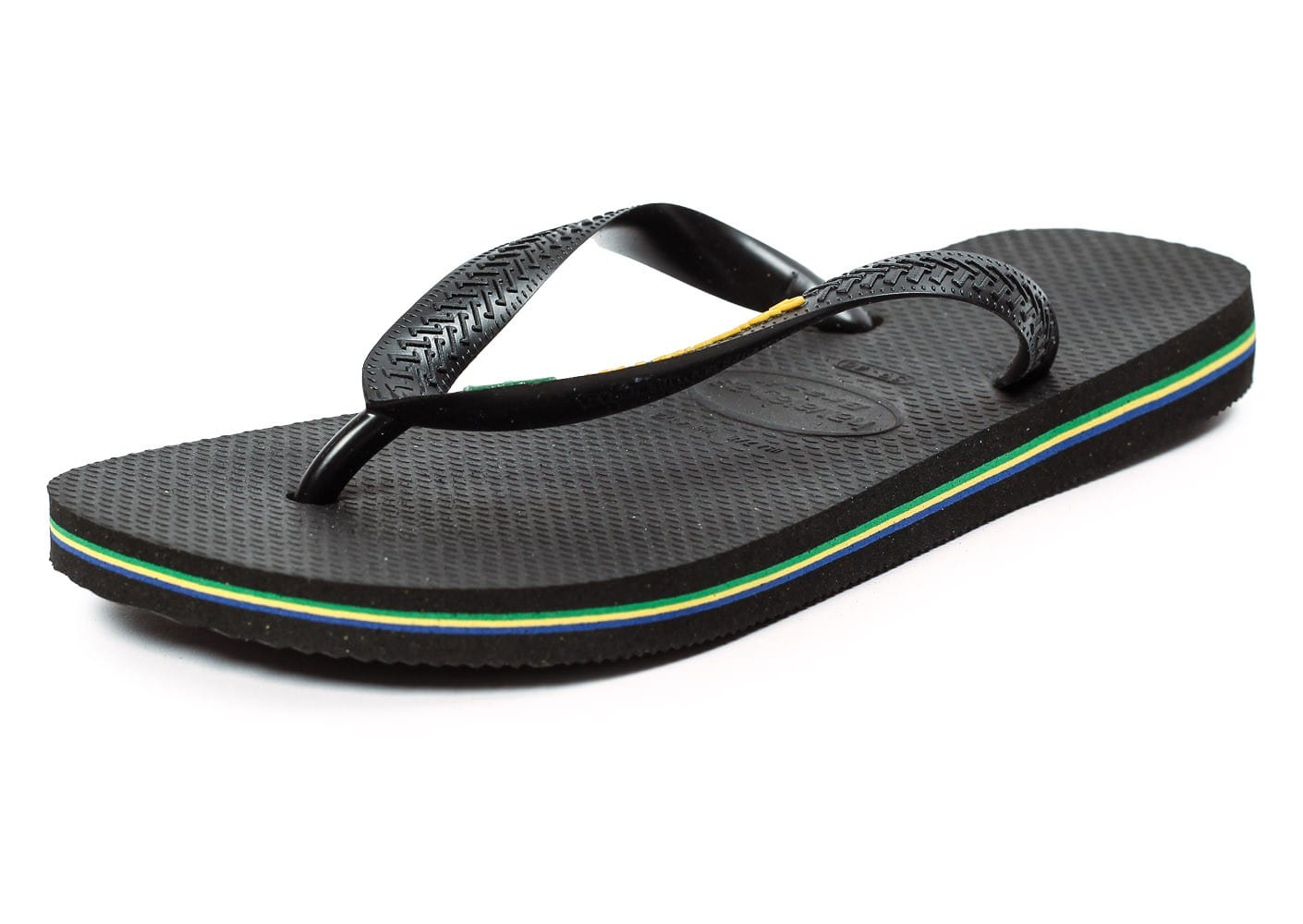 havaianas tong brasil logo noire chaussures homme chausport. Black Bedroom Furniture Sets. Home Design Ideas