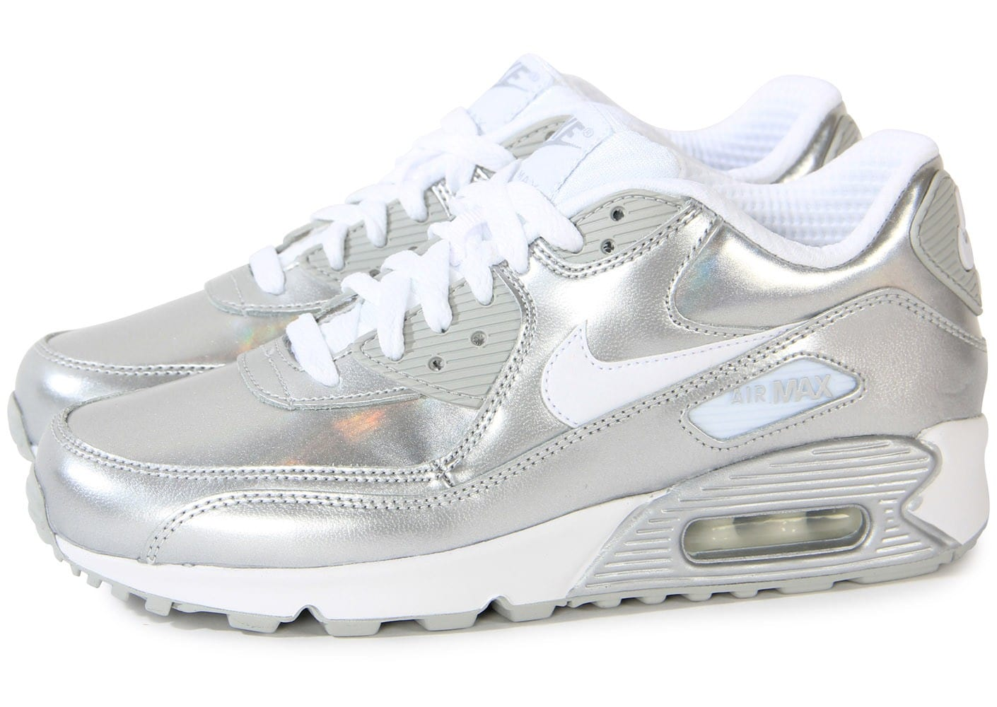 nike air max 90 chaussures blanc gris argent