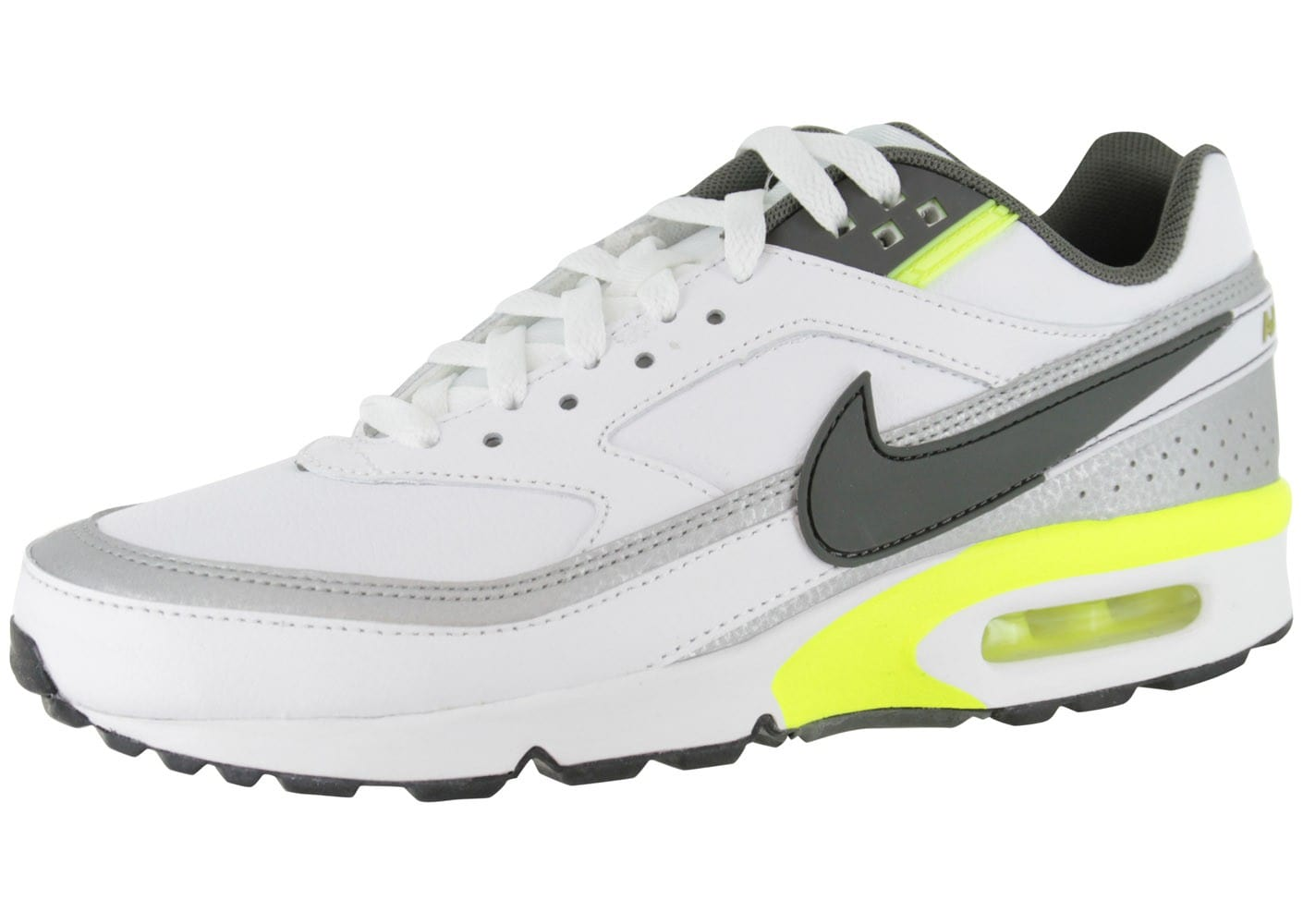 nike air max bw cuir blanche chaussures homme chausport. Black Bedroom Furniture Sets. Home Design Ideas