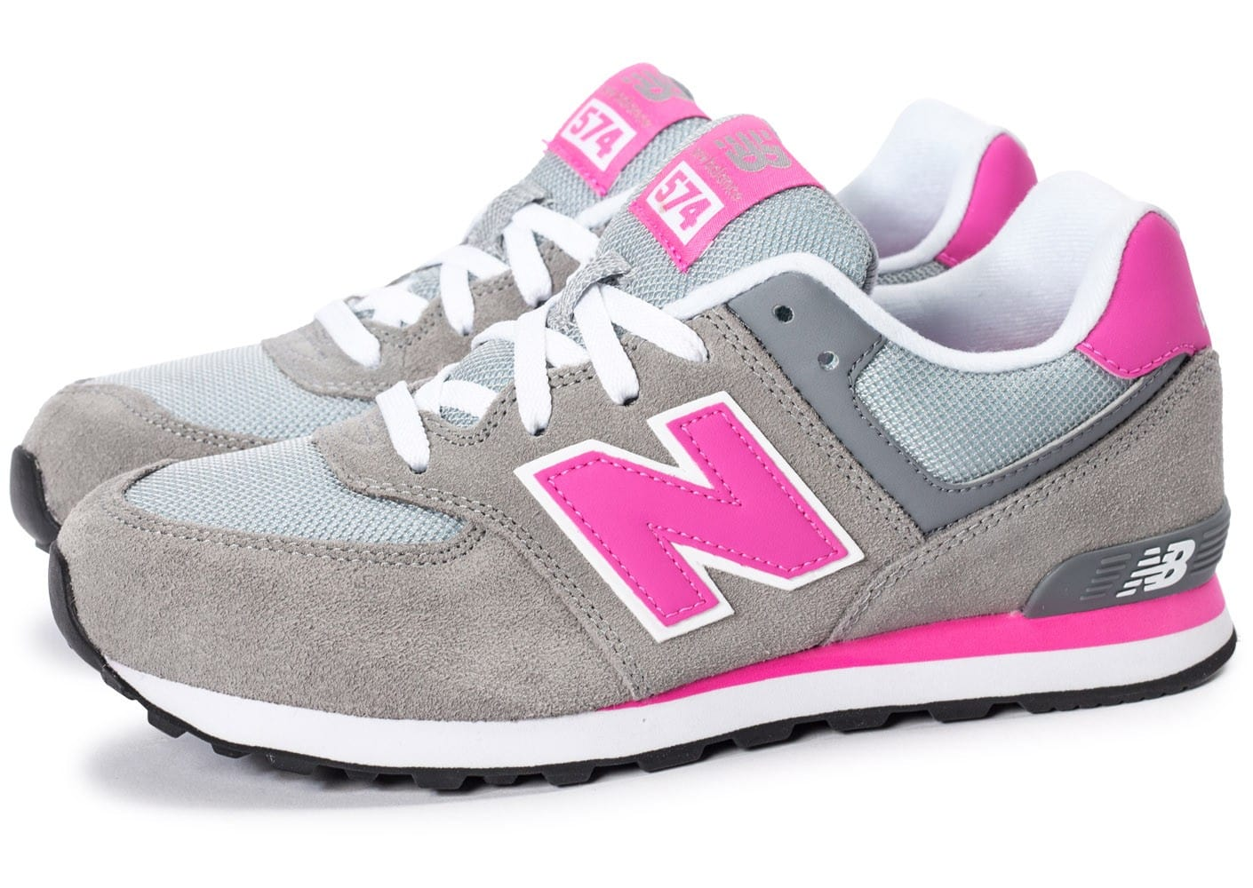 new balance kl574 cdg grise et rose chaussures chaussures chausport. Black Bedroom Furniture Sets. Home Design Ideas
